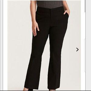 Torrid slim bootcut stretch trousers